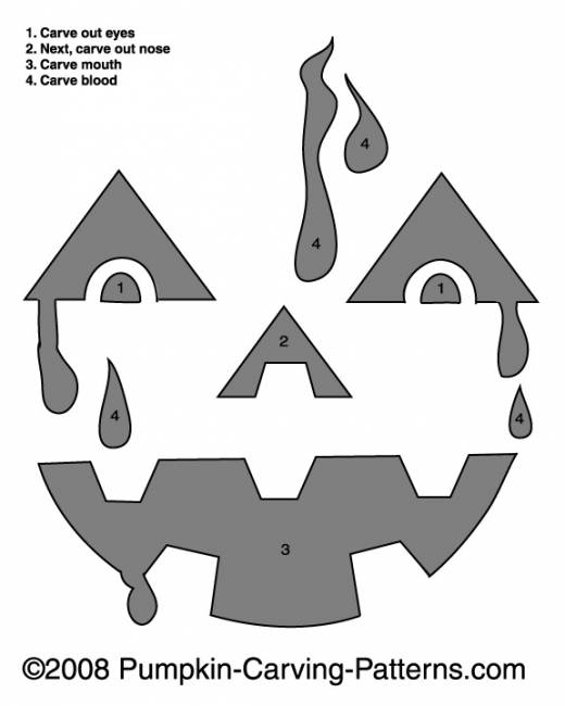 Bloody Billy Pumpkin Carving Pattern