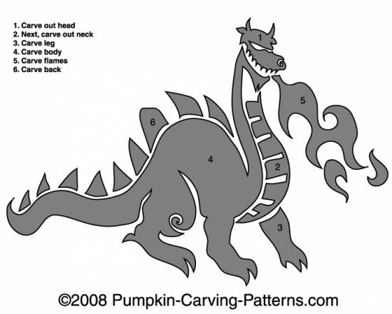 Chinese Dragon Pumpkin Carving Pattern