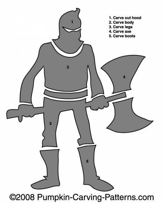 Executioner Pumpkin Carving Pattern