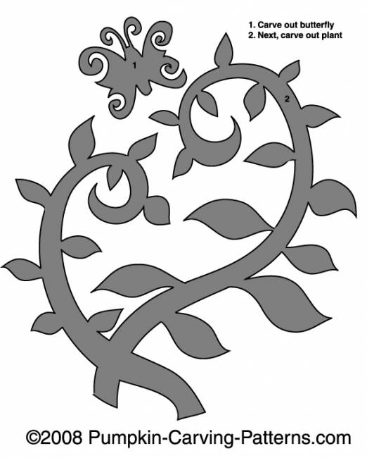 Poisonous Vine Pumpkin Carving Pattern