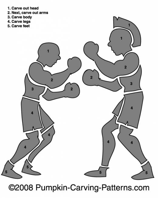 Roman Duel Pumpkin Carving Pattern