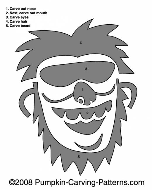Wacky Willy Pumpkin Carving Pattern